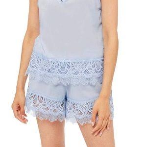 topshop lace shorts